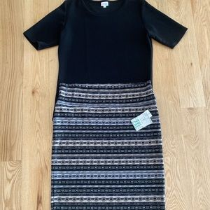 LulaRoe 2XL Aztec Cassie and 2XL Black Gigi Outfit